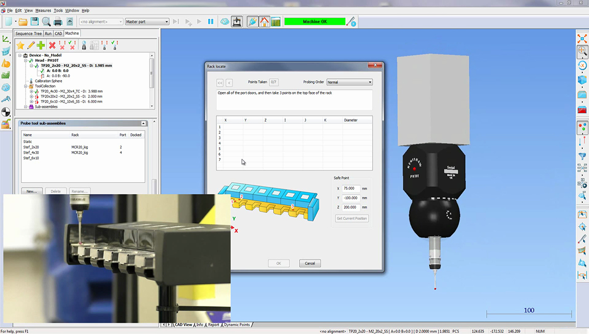 Автоматизируйте процесс измерения с магазином сменных щупов